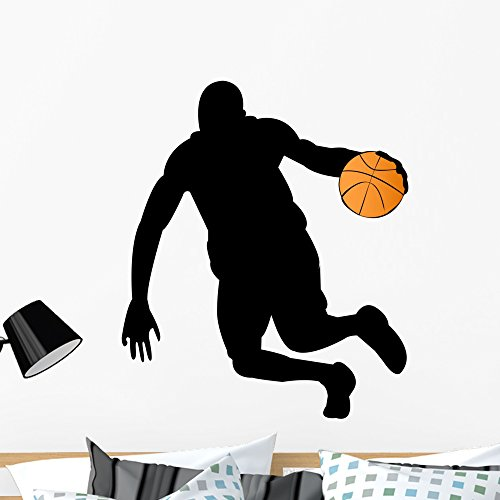 Player Wall Decal - Wallmonkeys Basketball Player Silhouette Wall Decal Peel and Stick Graphic (36 in H x 30 in W) WM30348