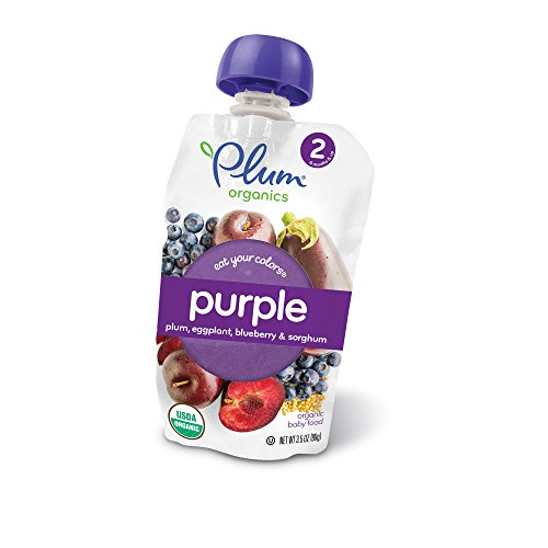 Organic Colour (Plum Organics Stage 2 Eat Your Colors Purple, Organic Baby Food, Plum, Eggplant, Blueberry and Sorghum, 3.5 ounce pouch (Pack of 6))