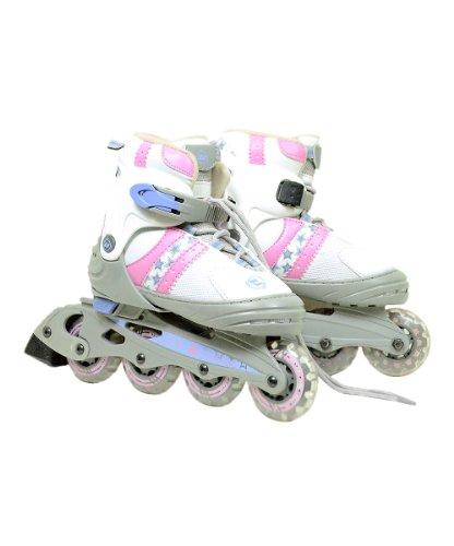 Pink & White Ultra-Wheels Transformer In-Line Skates Size 1-