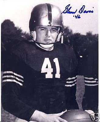 Glenn Davis Army Black Knights Heisman 46 Signed 8x10 - Autographed College Photos from Sports Memorabilia