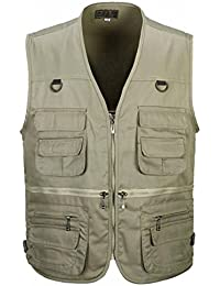 Generic Mens Casual Multi Pockets Travel Fishing Hunting Work Outdoor Photo Vest