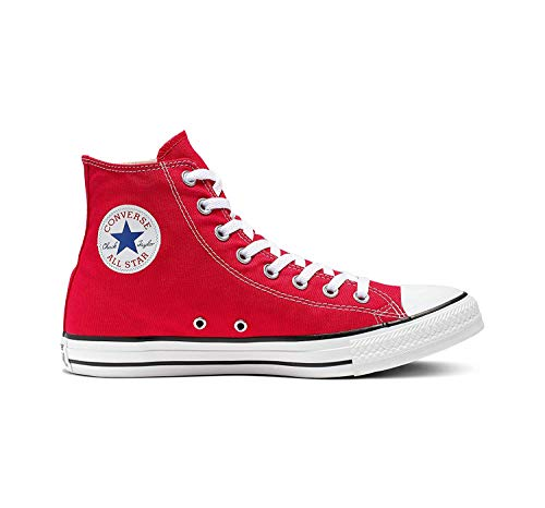 Chuck Taylor All Star Canvas High Top, Red, 10