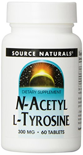 Source Naturals N-Acetyl L-Tyrosine, 300mg, 60 Tablets