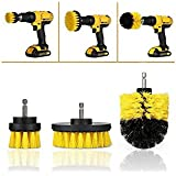 Drill Brush Attachment Kit - 3 Multipurpose Nylon Scrubber Brushes for Cleaning Kitchens, Bathrooms, Toilets, Cookware, Floors, Grout, Auto and More by LTW