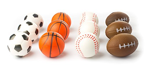 Squeezable Sport Ball (12 Sports Themed 2.5