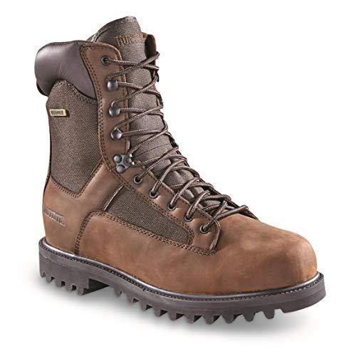 Huntrite Men's Insulated Waterproof Hunting Boots, 400-gram, Brown, 13D (Medium)