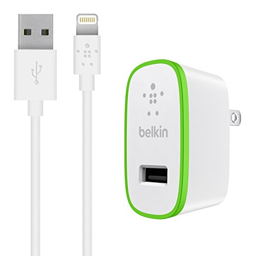 (Belkin F8J125TT04-WHT iPad and iPhone 5 Charger with ChargeSync Cable (12 watt/2.4 Amp))