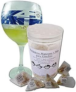 SABOREATE Y CAFE THE FLAVOUR SHOP Botánicos Para Gin Tonic Manzana Mango Especias para Cóckteles 12 uni