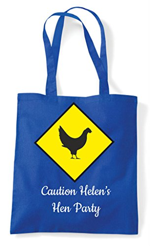 Caution Bag Do Warning Customised Royal Personalised Tote Shopper Chicken Blue Party Hens Hen EqzUH1z
