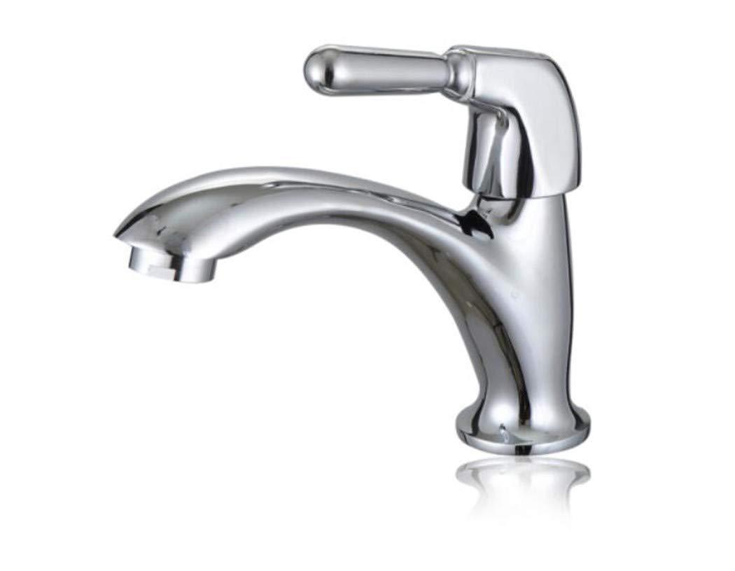 Waschtischarmatur Spültisch Badarmatur Kupfer Schnelles öffnen Des Badezimmers Mit Einem Einzigen Kalten Waschbecken