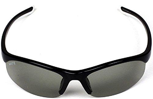 03fe09097d05 Amazon.com  Naute Sport Stride Polatran Black Frame Amber Lens Sunglasses  60mm  Clothing