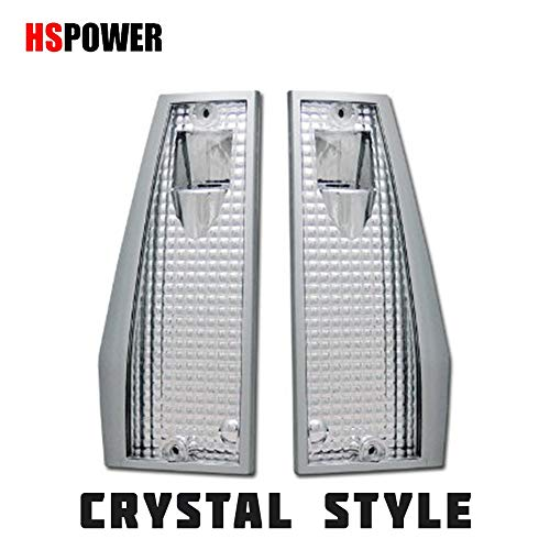 HS Power Crystal Clear Corner Light 1984-1996 for Jeep Cherokee/Wagoneer/Comanche Reflector - Crystal Jeep Cherokee