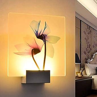 Led SimpleFleur À Murale Transparente Applique Imprimée Blanc c54jARLq3