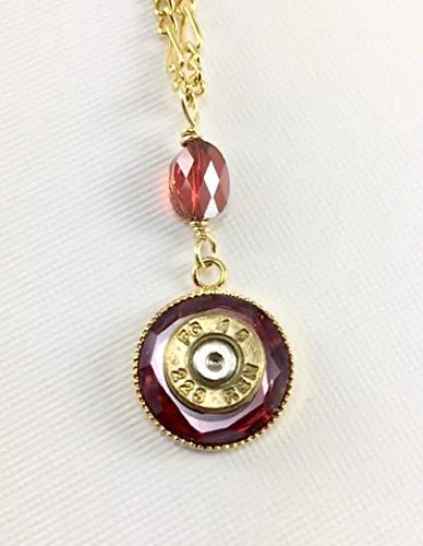 - .223 Rem Bullet Jewelry Pendant Necklace