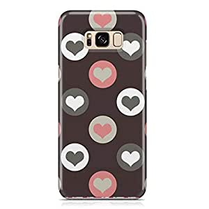 Samsung S8 Case Pretty Heart Love Pattern For Girls Valentine Durable Metal Inforced Light Weight Samsung S8 Cover Wrap Around 171