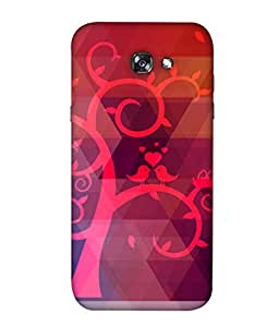 ColorKing Samsung A3 2017 Case Shell Cover - Tree Birds Multi Color