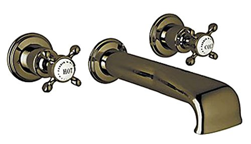 Rohl U.3581X-EB Perrin and Rowe Wall Mount Tub Filler Faucet Wall Mount with Metal, English Bronze
