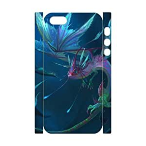 3D Bumper Plastic Customized Case Of Dragon for iPhone 5,5S by lolosakes