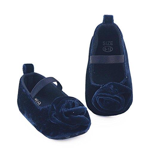 Prewalker Floral warme Weiche Girl Krippe Blau Baby Schuhe Stiefel BZLine® Solid Sohle Uw16fq6p