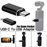 Fullwei DJI OSMO Pocket Gimbal Accessories Replacement Type C USB C To USB-A 3.0 Adapter Fast Adapter (Black)