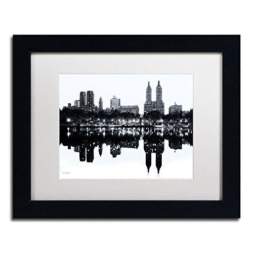 Central Park West II Framed Art by David Ayash, 11 by 14-Inch, White Matte with Black Frame (Central Park Framed)
