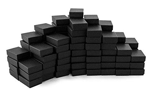 Matte Black Cotton Filled Jewelry Box #B21 Case of 100