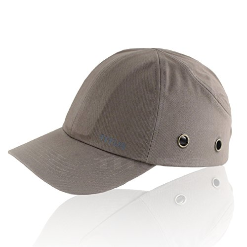 Titus Lightweight Safety Bump Cap - Baseball Style Protective Hat (Grey)