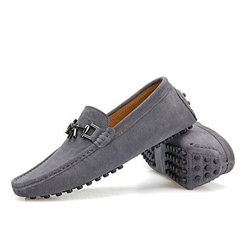 CFP - Stivali con le frange uomo, grigio (Grey), 40