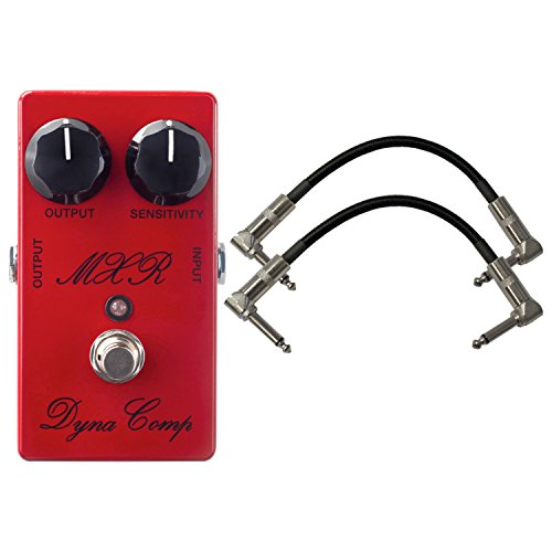 MXR CSP102SL Script Dyna Comp Compressor Effects Pedal with 2 Patch Cables