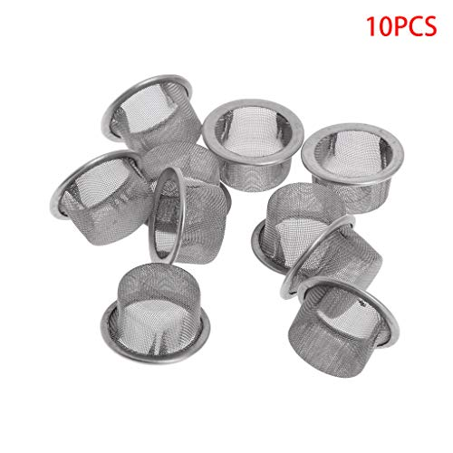 Yziss 10Pcs Tobacco Smoking Pipe Metal Filter Screen Steel Mesh Concave Bowl Style for Crystal Smoking Pipes Use