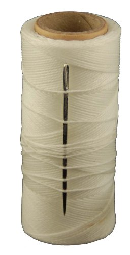 T.W Evans Cordage 11417 2-Ounce Wax Sail Kit with Needle, White