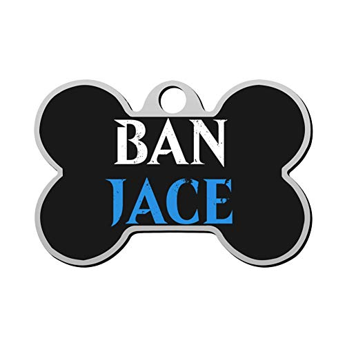 XIAIGOGO Ban Jace - MTG Pet Id Tags are Personalized to Print Skull-Shaped Dog and Cat Tags ()