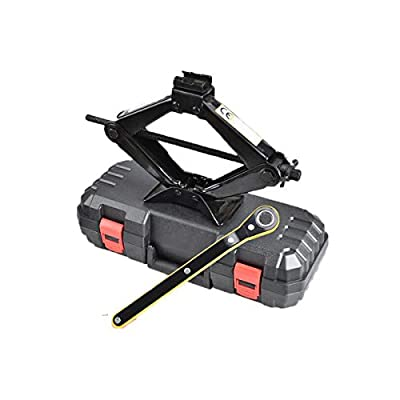 Huijunwenti Jack, Hand Crank, Scissor, Car, Tire Changing Tool, Load 2 Tons, Suitable for Car SUV Commercial Vehicles, Emergency Rescue Car Repair Tools