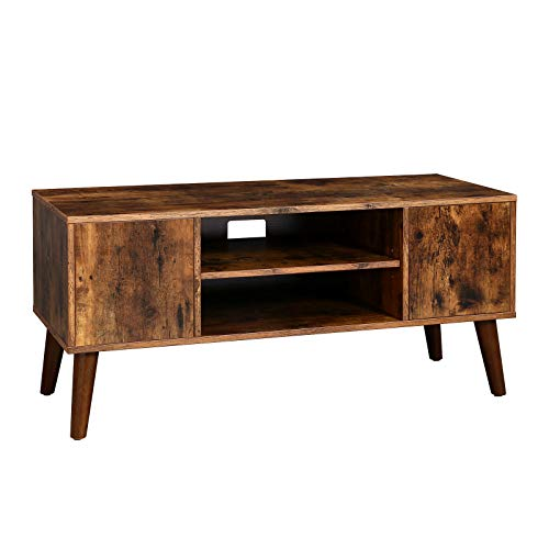 VASAGLE Retro TV Stand, TV Console, Mid-Century Modern Entertainment Center for Flat Screen TV Cable Box, Gaming Consoles, in Living Room, Entertainment Room, Office ULTV08BX (Tv Unit Retro)