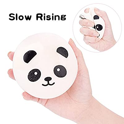 Squishes Toys , Elevin(TM)???????? 2pcs Kawaii Squeeze Squishy Slow Rising Jumbo Giant Scented Cartoon Cute Panda Cake Stress Reliever Toy: Toys & Games