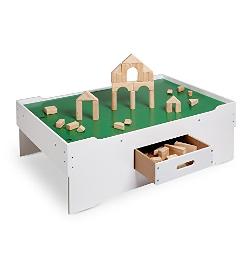 Melissa & Doug Deluxe Wooden Multi-Activity Play Table - For Trains, Puzzles, Games, More by Melissa & Doug (Image #2)