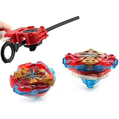XIXI-POPOMT Bayblades Burst Turbo Evolution Metal Fusion Bay Blade Toys Gyro Battling Game Starter Pack Set with 12 Spinning Top + 3 Launchers - White Box: Electronics