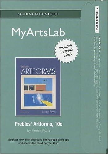 myartslab standalone access card for prebles artforms 10th edition myartslab access codes