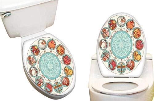 SeptSonne Vinilo Adhesivo para Inodoro con diseño de Cubierta de ...