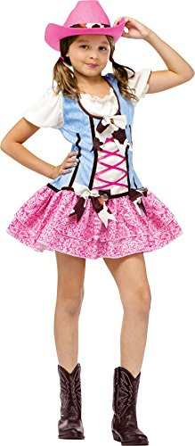 Fun World Girls' Rodeo Sweetie Costume Multicoloured Small
