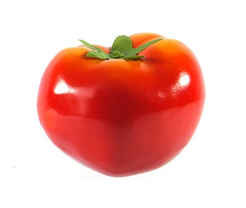 6pc Artificial Red Tomato Large 3.5-Inch - Plastic Decorative Tomatoes Vegetable Fruit - Six -