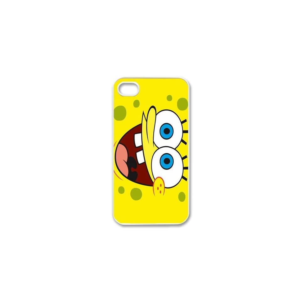Personalized Cartoon SpongeBob SquarePants Protective Snap on Cover Case for iPhone 4/4S SS191