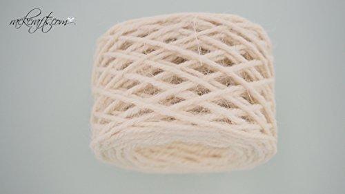 rackcrafts.com Jute Flax Abaca Burlap Ribbon Cord Net Lattice Mesh Design Gift Wrap Decoration (Diamond Weave - Ivory)