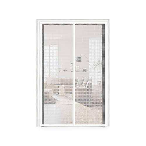 (Insulated Door Curtain 48x83, Thermal Door Screen EVA Magnetic Screen Temporary Door Enjoy Cool Summer & Warm Winter Fit Your Door Frame Size Up to 46x82 Inch (48x83 Inch, Transparent))