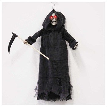 Uniton Horror Doll - 22 in Hanging Reaper Skeleton with Sickle (Halloween -
