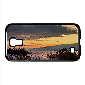 lintao diy Chilly Sunset On Iced Over Utah Lake Watercolor style Cover Samsung Galaxy S4 I9500 Case (Utah Watercolor style Cover Samsung Galaxy S4 I9500 Case)
