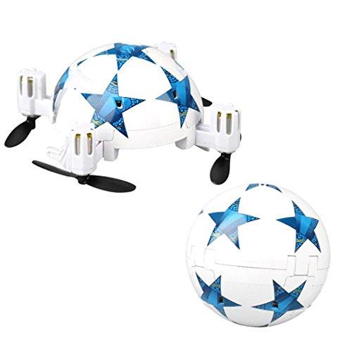 Inverlee RC Drone Mini Folding Drone World Cup Football Folding Remote Control RC Quadcopter Micro Mini Aerocraft (C) by Inverlee