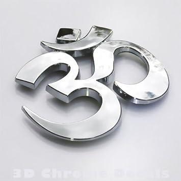 Amazoncom Aum Om Car Auto Bike D Chrome Emblem Decal Yoga Symbo - Vinyl stickersaum die cut vinyl decal pv