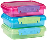 Sistema Lunch Collection Food Storage Containers, 1.9 Cup, 3 pack, Blue/Green/Pink | BPA Free