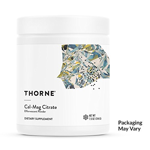 Thorne Research - Cal-Mag Citrate Effervescent Powder - Calcium + Magnesium Supplement w/Vitamin C for Stress Relief - NSF Certified for Sport - 7.5 oz Cal Mag Calcium